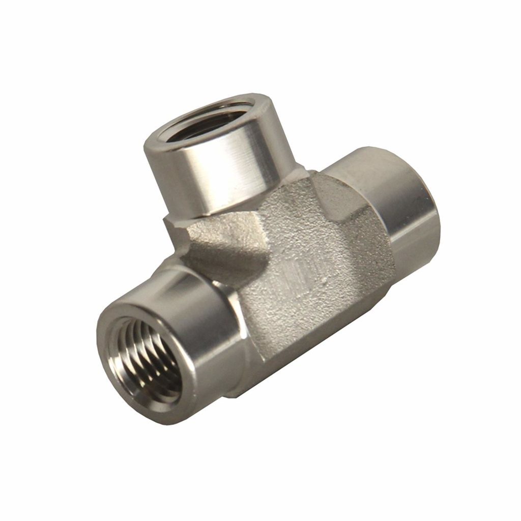 "HFS (R) TEE Fitting - Female FNPT 3-Way Tee Stainless (1/4"" Female NPT)"
