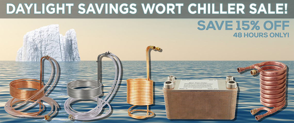 Daylight Savings Wort Chiller Sale!