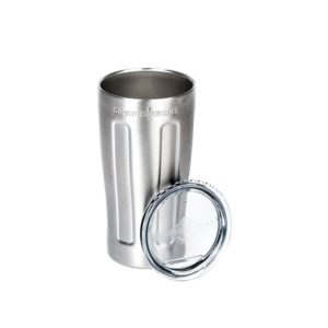 GrowlerWerks uPint Vacuum Insulated Pint for Craft Beer, Stainless Steel