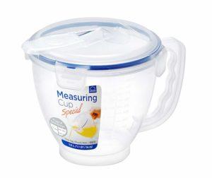 LOCK & LOCK HPL982 Easy Essentials Specialty Cup, 1-Liter Measuring Bowl 1L / 34oz, 1 Liter, Natural