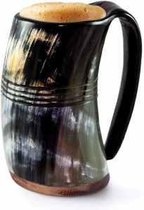 Norse Tradesman Horn Tankard (X-Large, Eternal, Polished)