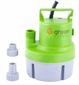 """Green Expert 203617 1/6 HP Portable Submersible Utility Pump with Max 1056 GPH Flow Efficiently for Water Removal Basement Flood Drainage Pump, suit to 3/4"""" Standard Garden hose, 25 feet Cord"""