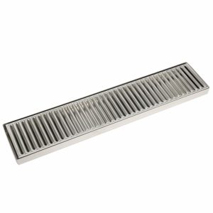 "YaeBrew 19"" Length 4"" Width Rectangular Stainless Steel Beer Surface Mount Drip Tray, No Drain, Silver"