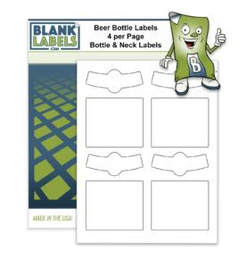 Blank Beer Bottle & Neck Labels Home Brewing. Self Print Brew Label Matte White