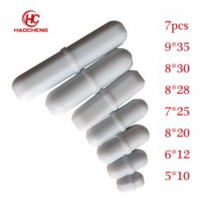7pcs Lab Mixed Size PTFE Magnetic Stirrer Mixer Stir Bars