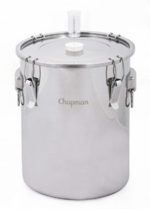 Chapman Brewing Equipment ST07NP Stainless Steel Fermenter, 18.2 x 15.4 x 15.1 inches, Silver