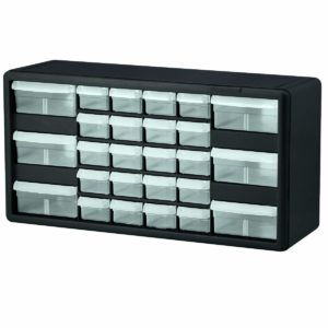 Akro-Mils 10126 26 Drawer Plastic Parts Storage Hardware and Craft Cabinet, 20-Inch by 10-1/4-Inch by 6-3/8-Inch, Black