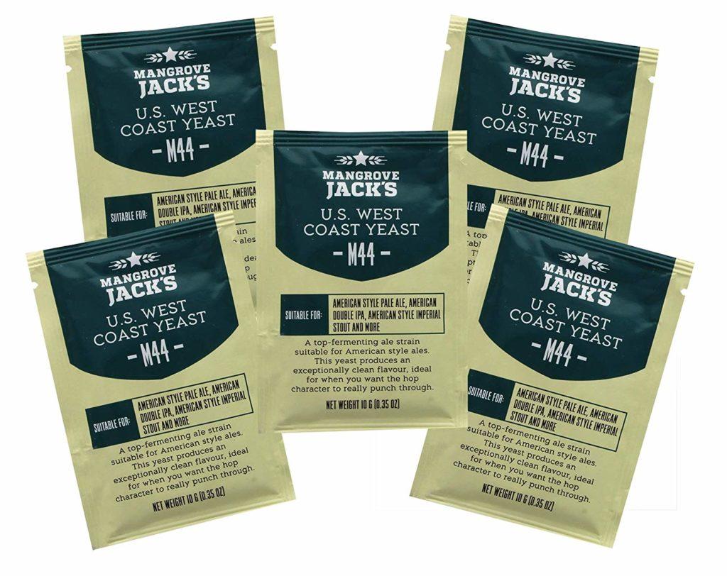 5x Mangrove Jack's Yeast M44 US West Coast Craft Series Yeast 10g treats 23L