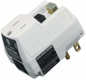 TRC 14650006-6 Shockshield White GFCI Plug with Surge Protection, Prefect for Power Tools, Portable Compact Size, Prevents Unmonitored Equipment Startup, Ideal for Indoor Use, 120V/15A