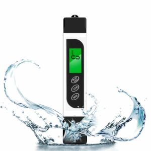 TDS Meter Water Quality Tester,Reliable TDS, Conductivity EC Meter,Temperature Meter (3 in 1). Ideal Water Quality Tester for Drinking Water, Aquariums, (White)