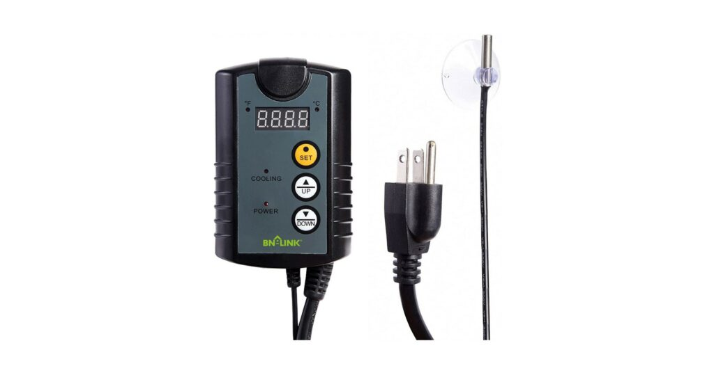 BN-LINK Digital Cooling Thermostat Controller for Cooling Device Circulation Box Fans 40-108F 8.3A 1000W