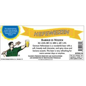 Palmer Premium Beer Kits - Harold is Weizen - Hefeweizen KIT98130