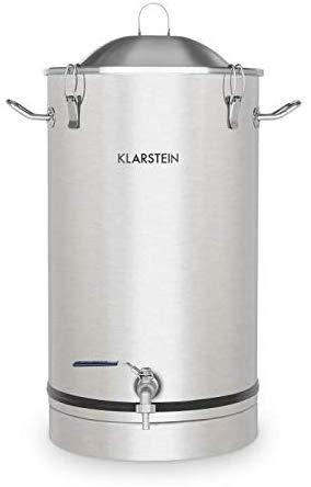 Klarstein Maischfest • 25 Liter Capacity • Fermentation Kettle • Beer Brewer • 304 Steel • Home Fermentation of Beer and Wine • Includes Fermentation Vials • Stainless Steel