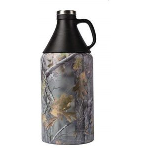 X-Pac Growler with Double Wall Vacuum Insulated Construction, for Transporting Micro Brew Beer, Wine and Other Liquids, JX Camo, 64 Ounce