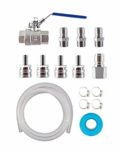 GILE HOUSE BREW SUPPLY EZ Transfer Pump Connection Kit w/Silicone Hose and Stainless Fittings
