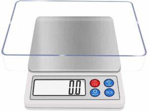 Digital Kitchen Scale 3000g NEXT-SHINE High-precision Pocket Gram Scale Muti-functional Pro Scale with LCD Display Tare PCS Back-lit