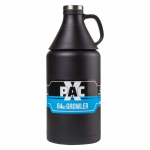 X-Pac Growler with Double Wall Vacuum Insulated Construction, for Transporting Micro Brew Beer, Wine and Other Liquids, 64 Ounce