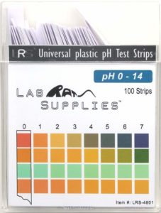 Plastic pH Test Strips, Universal Application (pH 0-14), 100 Strips