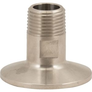 Stainless Tri-Clamp - 1/2 in. MPT x 1.5 in. T.C.