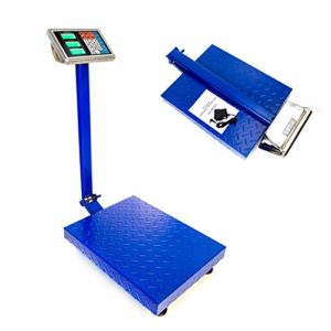 """660lbs Digital Heavy Duty Shipping and Folding Postal Scale with 19.68"""" x 15.75"""" Durable Large Platform,Industrial Grade Bench Scale (Blue)"""