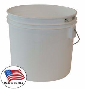 Argee RG503/10 Bucket, 3.5 gallon, White