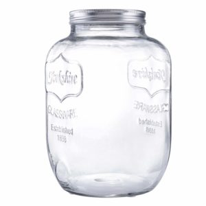 Diamond Star Glass Storage Jar Large Canning Jar Wide Mouth Candy Jars with Brushed Tin Lid (1.5 Gallons)