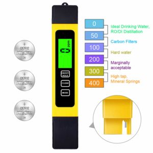 TDS Meter Digital Water Test Meter, TDS Temperature & Conductivity Meter 3 in 1, 0-9999 ppm, Hydroponics EC Meter, Digital Water Quality Testers for Drinking Water, ppm Meter for Hydroponics Aquarium