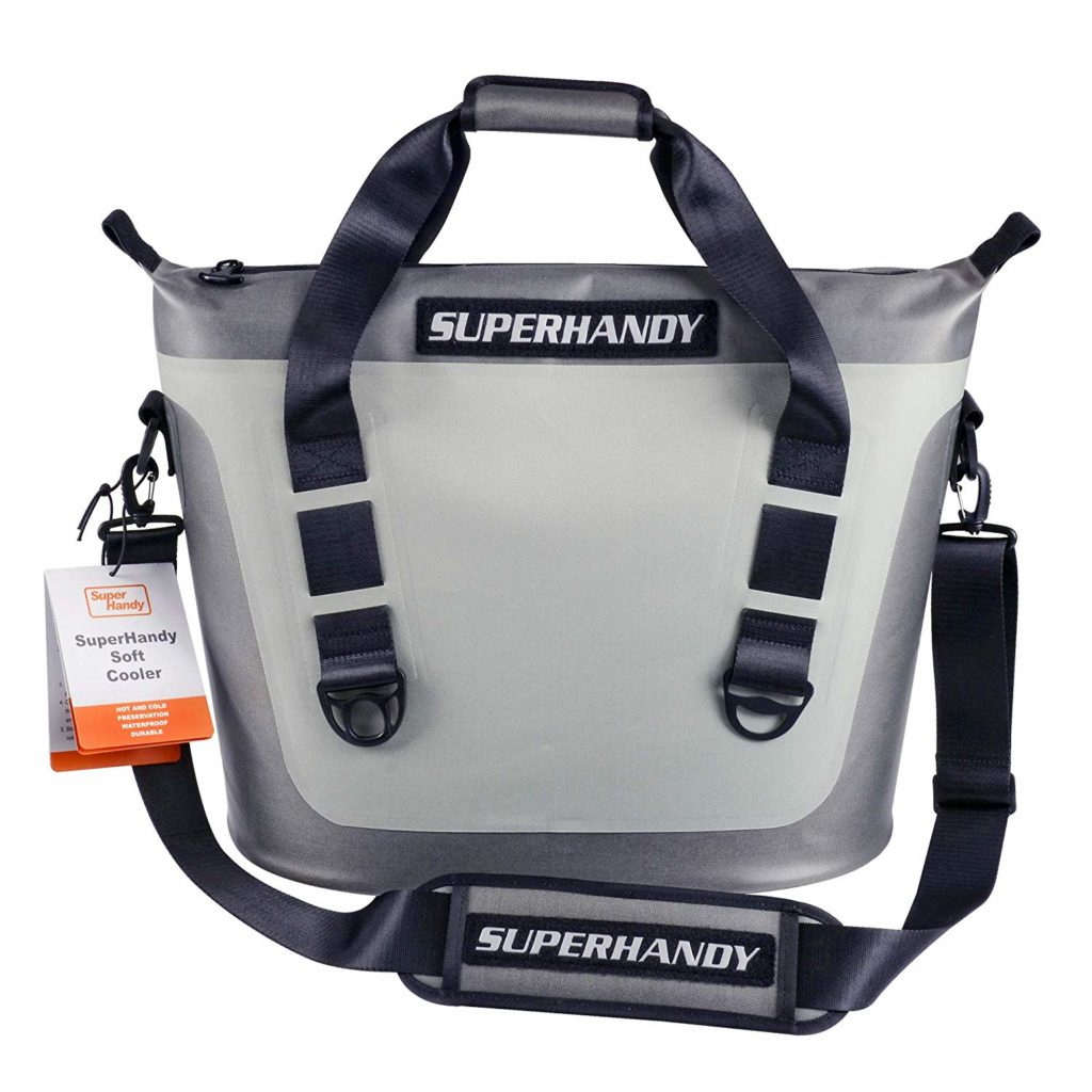 SuperHandy Soft Cooler Bag Tote Portable Hopper 6.9Gal 26L 36 Can Hydro-Zip Cold Cell Insulated Leak & Waterproof High Ice Retention Commercial Grade Food Safe UV Protected Hiking Sports & Beaches