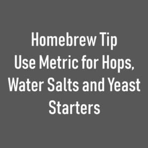 homerbrew metric