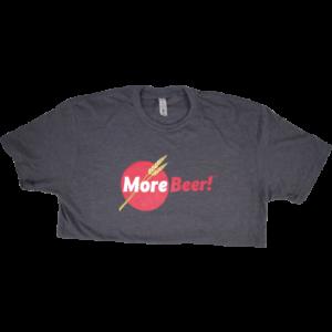 MoreBeer!® Logo - Charcoal T-Shirt