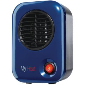 "Lasko Heating Space Heater, 3.8"" x 4.3"" x 6.1"" tall, Blue"