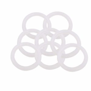 """BokyWox Silicone Gasket Tri-Clover,1.5/2"""" inch Tri Clamp Sanitary Pipe Ferrules (8 Pack, 1.5"""" inch Oring)"""