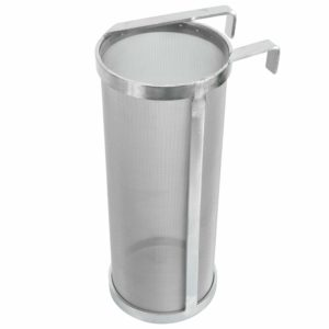 "YaeBrew 4 X 10 Inch Hop Spider 300 Micron Mesh Stainless Steel Hop Filter Strainer for Home Beer Brewing Kettle (4""X10"")"