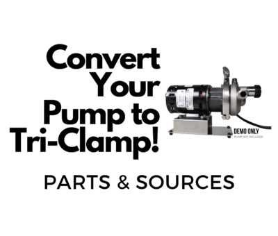 convert chugger march pump to triclamp