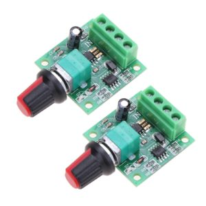 Onyehn 2Pcs 1.8v 3v 5v 6v 7.2v 12v 2A 30W Low Voltage DC Motor Speed Controller PWM 1803BK 1803B Adjustable Driver Switch 2 Pack