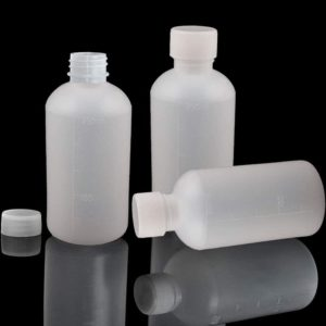 GDGY 8Pcs 250ml, 8.5OZ PE Plastic Empty Small Mouth Graduated Lab Chemical Container Reagent Bottle Sample Sealing Liquid Medicine Bottle (8pcs 250ml, 8.45)