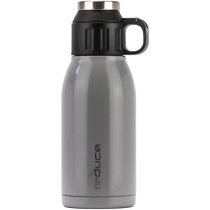 REDUCE 32oz Dual-Wall Vacuum Insulated Stainless Steel Canteen and Growler with Leak-Proof Lid - for Hot & Cold Beverages, Great for Camping, Tailgating & Parties- Opaque Gloss Cool Mist