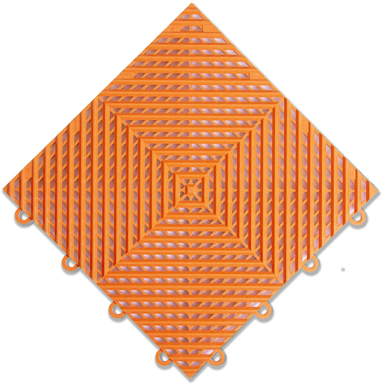 "IncStores Nitro Garage Tiles 12""x12"" Interlocking Garage Flooring (1-12""x12"" Tile, Harley Orange Vented)"