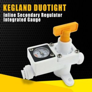 Kegland Duotight Inline Secondary Regulator Integrated Gauge 0-60 Psi New