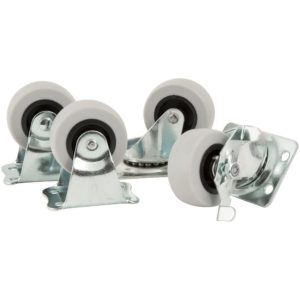 Titan Casters by Waxman 4033256TS One Pack-2 inch TPR Casters, 4 Pack, Load Rating 360 lbs, 4 Piece