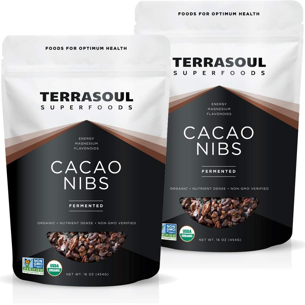 Terrasoul Superfoods Raw Organic Cacao Nibs, 2 Lbs (2 Pack) - Raw | Keto | Vegan
