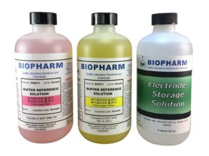 Biopharm pH Buffer Calibration Solution Kit (3) 250 ml (8oz) Bottles pH 4.00, pH 7.00 and Electrode Storage Solution NIST Traceable Reference Standards for All pH Meters