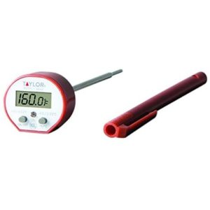 Taylor Precision Products Taylor Commercial Waterproof Cooking Digital Quick Read Thermometer, One Size, Red