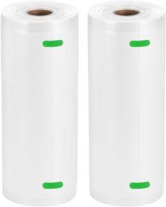 """Bifrecho Vacuum Sealer Bags, 2 Pack of 8"""" x 50' Food Saver Bags Rolls, Food Storage Bags for Vacuum Sealer Machines, Sous Vide, Total 100 Feet in 8 Inch"""