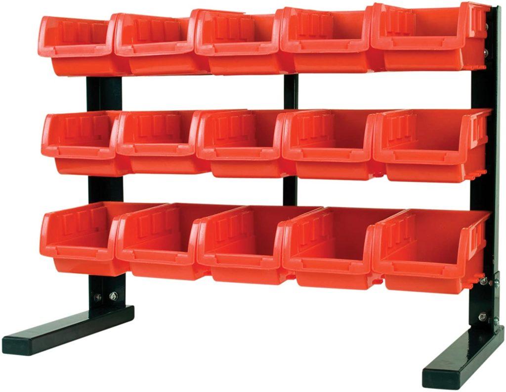 MaxWorks 80695 Bench/Table Top 15-Bin Parts Rack