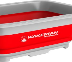 Wakeman Outdoors Collapsible Multiuse Wash Bin- Portable Wash Basin/Dish Tub/Ice Bucket with 10 L Capacity for Camping, Tailgating, More