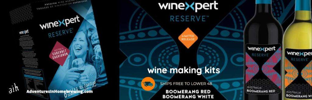 Winexpert Reserve Australian Boomerang White Wine Making Kit (Limited Release)