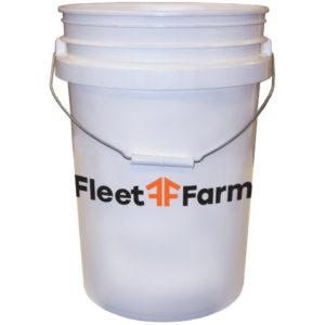 6 Gallon White Heavy Duty Pro Pail