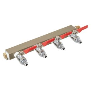 The Weekend Brewer 4-way MFL CO2 Distributor Manifold with integrated check valves