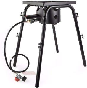 Barton High Pressure Gas Stove Burner Outdoor Stove Propane Gas Cooker Adjustable Height 200,000 BTU, Regulator 20 PSI, UL Certificate